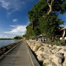 The Tides Restauranr Walkway Along Water
