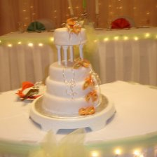 4 Tiered Cake with Calla Lillies