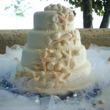4 Tiered Sea Shell Cake