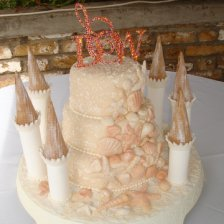 Castle Cake with Sea Shells